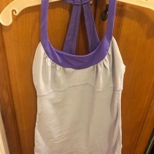 Lululemon light blue and purple top - Size 4